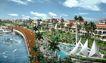 阳光海韵广场0004,阳光海韵广场,国内建筑设计案例,水面 路面 绿化带