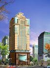 雅兰大厦0001,雅兰大厦,国内建筑设计案例,侧面 车子 全景