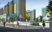黄山新村0001,黄山新村,国内建筑设计案例,路人 人行道 垃圾桶