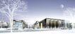 龙兴学校0001,龙兴学校,国内建筑设计案例,月亮 雪景 树