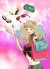 时尚女人0001,时尚女人,人物模板,仙女棒 眼镜 包包 长发女生 时尚女郎 皮包 化妆盒