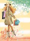 时尚女人0003,时尚女人,人物模板,性感服饰 冬装 女帽