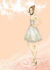 时尚女人0007,时尚女人,人物模板,吊带裙 苗条 亭亭玉立 秀秀自我 地毯