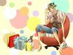 时尚女人0015,时尚女人,人物模板,沙发 歇息 购物狂 自信 柔美
