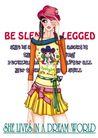 时尚女人0018,时尚女人,人物模板,涂鸦 英语 辫子 翘舌帽 蝴蝶结