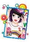 时尚女人0019,时尚女人,人物模板,明丽 艳妆 照片 七彩 绚烂