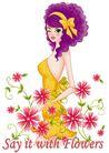 时尚女人0020,时尚女人,人物模板,卷发 时尚女人 露背装