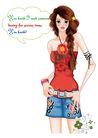 时尚女人0025,时尚女人,人物模板,性感 长发 腰带