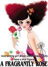 时尚女人0034,时尚女人,人物模板,头发 露背装 耳环