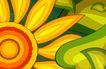 最佳设计背景PSD20015,最佳设计背景PSD2,创意背景,太阳花 同心圆 火焰 曲线 蛋黄