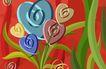 最佳设计背景PSD40015,最佳设计背景PSD4,创意背景,花朵 模型 心型