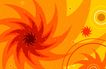 最佳设计背景PSD50016,最佳设计背景PSD5,创意背景,旋转 尖锐 橙色 圆心 旋风