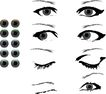 创意图案0027,创意图案,前卫设计,眼睛 眼神 眉毛