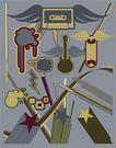 创意图案0038,创意图案,前卫设计,飞舞 翅膀 磁带
