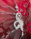 创意图案0045,创意图案,前卫设计,圆环 枝蔓 闪亮