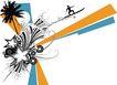 创意图案0049,创意图案,前卫设计,飞越 冲浪 跨度