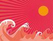 创意图案0052,创意图案,前卫设计,太阳 浪花 潮水
