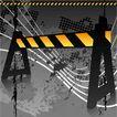 创意图案0061,创意图案,前卫设计,路障 隔离 禁行