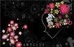 女人与花0028,女人与花,前卫设计,轮廓 女人花 花仙子