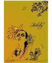 女人与花0041,女人与花,前卫设计,女人 仪表 姿态