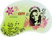 女人与花0042,女人与花,前卫设计,女怀 头像 缩影