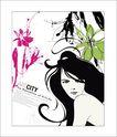 女人与花0043,女人与花,前卫设计,女性 魅力 迷惑