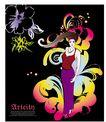 女人与花0047,女人与花,前卫设计,舞台 女人 吊带