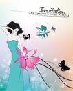 女人与花0050,女人与花,前卫设计,如花 飘舞 设计图