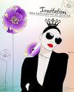 女人与花0053,女人与花,前卫设计,皇冠 墨镜 西装