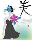 女人与花0054,女人与花,前卫设计,美 主题 花