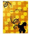 女人与花0056,女人与花,前卫设计,黄色 圆圈 相隔