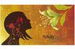 女人与花0064,女人与花,前卫设计,黑影 花香 闻嗅