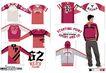 时尚流行服饰设计0041,时尚流行服饰设计,前卫设计,正面 红色 衣着