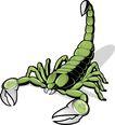 时尚藤图0130,时尚藤图,前卫设计,绿色 蝎子 翘尾