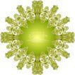 时尚藤图0155,时尚藤图,前卫设计,黄绿 聚焦 花纹