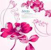 时尚藤图0161,时尚藤图,前卫设计,红色 卷曲 花枝