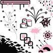 极品图标素材0015,极品图标素材,前卫设计,花朵 规则 彩蝶 七彩 风筝