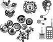 极品图标素材0031,极品图标素材,前卫设计,手机 办公用品 计算器