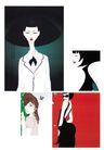 科幻广告作品0086,科幻广告作品,前卫设计,白领 丽人 端庄