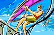 商业艺术插图0042,商业艺术插图,插画,海面 冲浪 选手
