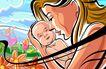 商业艺术插图0046,商业艺术插图,插画,母子 婴儿 母爱
