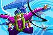 商业艺术插图0074,商业艺术插图,插画,高空 跳伞 降落