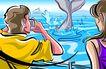 商业艺术插图0076,商业艺术插图,插画,航海 欣赏 鲸鱼