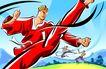 商业艺术插图0077,商业艺术插图,插画,抬拳道 踢腿 速度