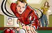 商业艺术插图0087,商业艺术插图,插画,桌球 斯洛克 击球