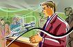 商业艺术插图0096,商业艺术插图,插画,新闻 发布会 解释