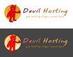 精美卡通图标0043,精美卡通图标,插画,红色 小怪物 旅馆