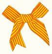 饰角素材0045,饰角素材,纹理边框,橘黄 条纹 蝴蝶结