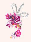饰角素材0061,饰角素材,纹理边框,蝴蝶结 紧系 花颈