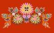 饰角素材0062,饰角素材,纹理边框,盛开 花色 斑斓